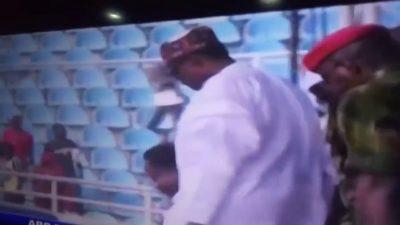 Presidential Campaign: Buhari Fell Down In Kogi Stadium