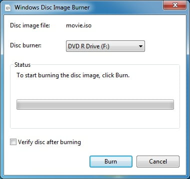 Burn ISO Image Files to CD DVD