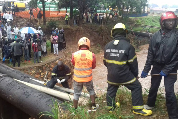 Kampala Floods: body recovered from Nakivubo Channel