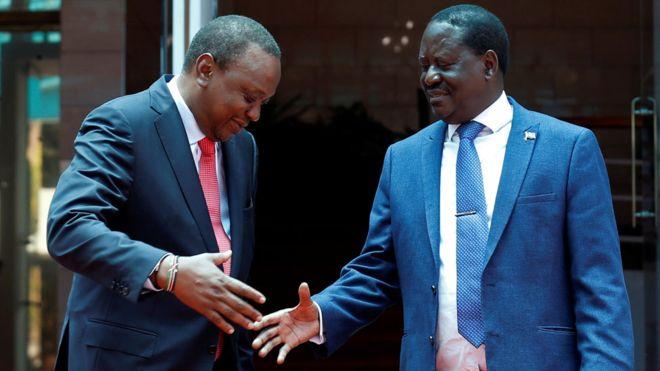Odinga,Uhuru bury Hachet After 2017 Controversial Elections!