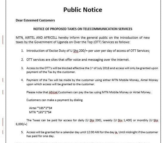 We Shall Switch You Off Till You Pay: Telecom Companies Threaten To Switch Off Social Media Tax Defaulters Effective 1st July 2018!