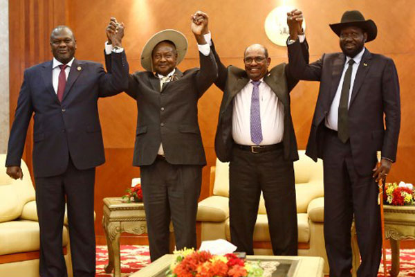 South Sudan's Kiir, Rebel Leader Machar Sign Power-Sharing Deal To End Conflict