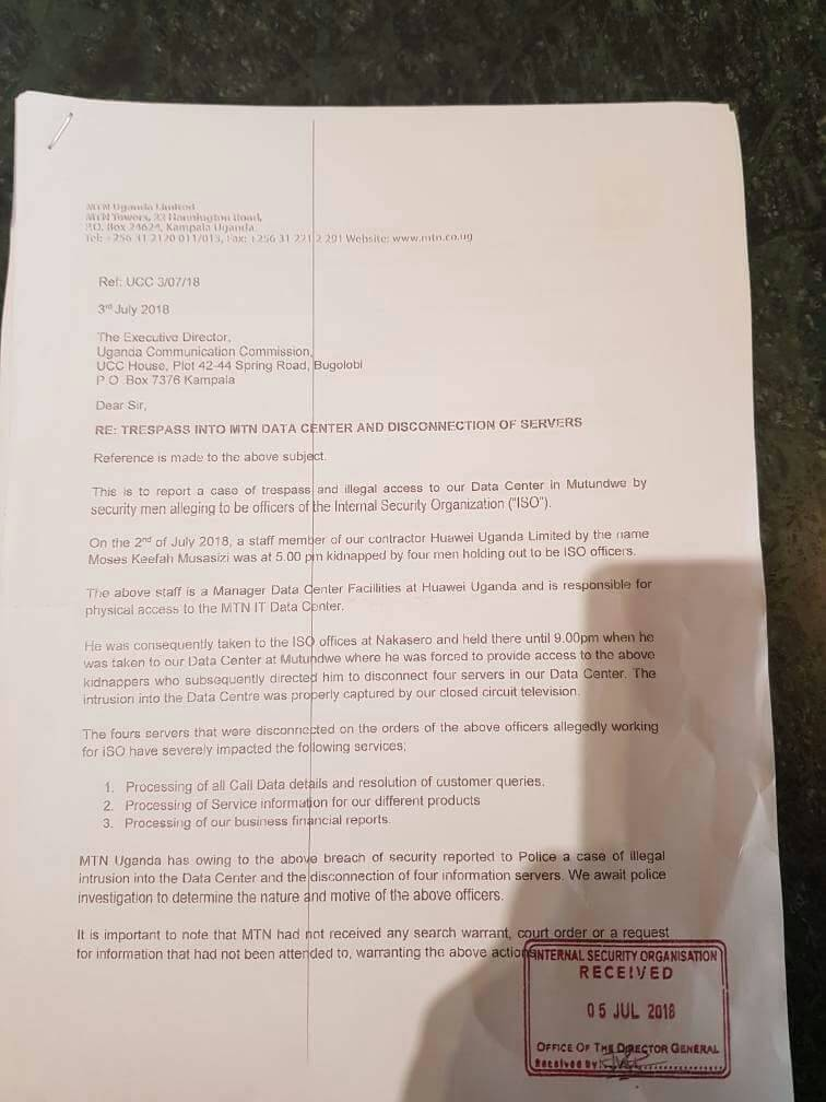 Breaking! No-nonsense Security Operatives Raid MTN Uganda Data