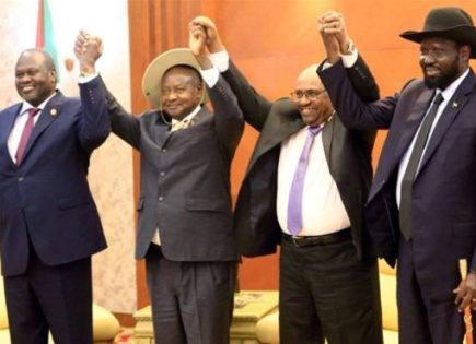 President Museveni Hails Kiir, Machar For Signing Revitalised Peace Agreement