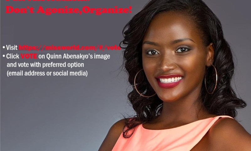 Quiin Abenakyo Makes It To Top 15 Ahead Of Miss World Grand Finale