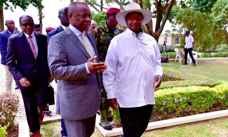 Pictorial:  President Museveni Visits Kabaka  Mutebi