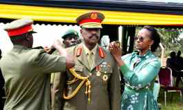 Gen.Muhoozi, Other 160 Newly Promoted Officers Decorated