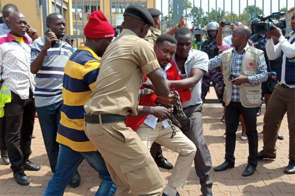 MP Ssewanyana Arrested In City Protest Over Kiruddu Hosp.Sewage