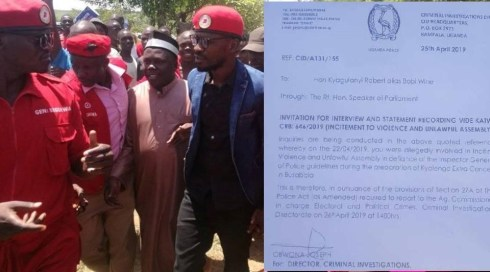 Police Summons Bobi Wine For Inciting Violence