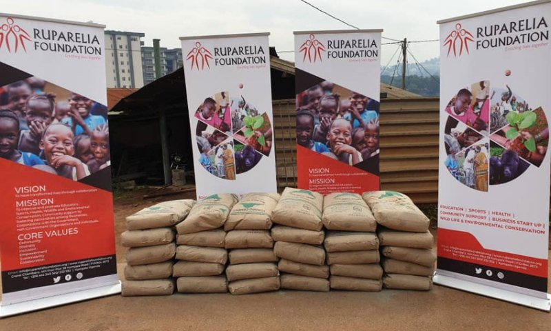 Ruparelia Foundation Donates Cement Worth Millions For Completion Of Mbarara Archdiocese Multipurpose Hall