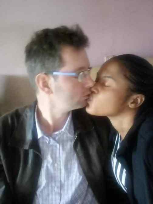 She kisses her Mzungu