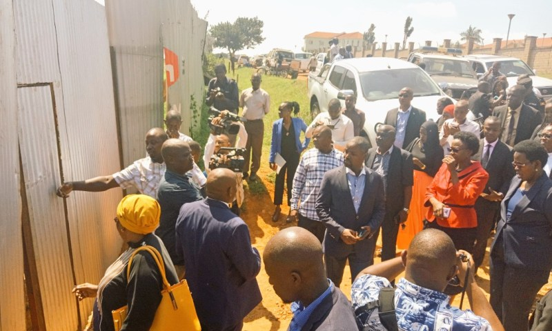 Shock As Health Minister,  MPs  Are Blocked From Lubowa Hospital Site
