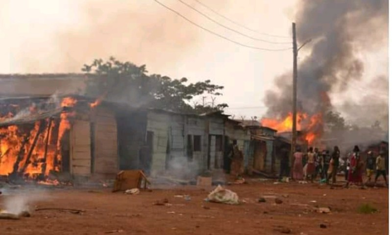 Traders Lose Millions As Street Kids Burn Market