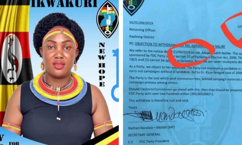 Drama As FDC Candidate Chickens Out Of Kaboong By-election; Party Demands Shs200m From E.C