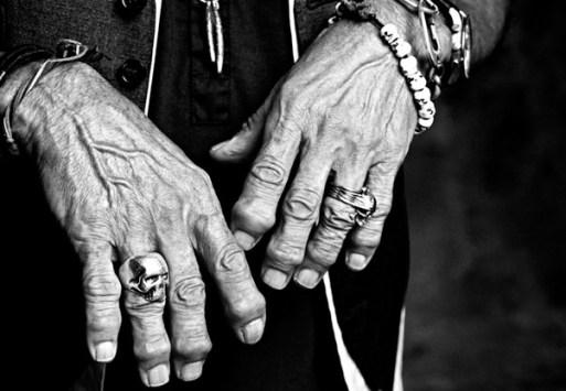 American singer Keith  Richard's Illuminati ring