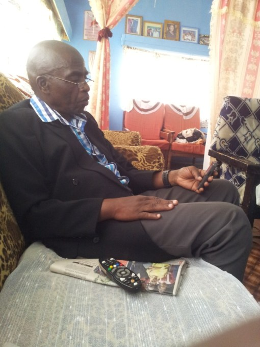 Major Kyamanywa at his home