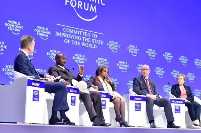 President Museveni discussing issues at World Economic Forum on Africa