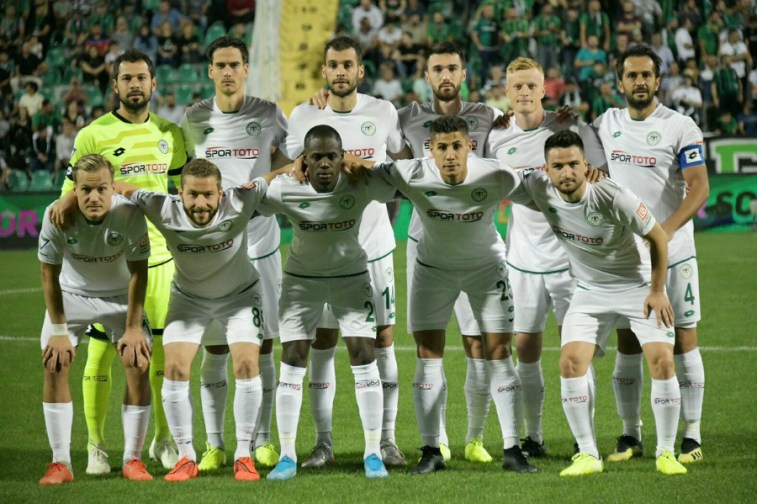 Farouk Miya with  Konyaspor  team mates