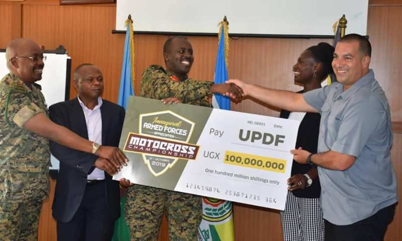 Joy As Gen.Muhoozi, UPDF Bag Shs100M From Uganda Motocross