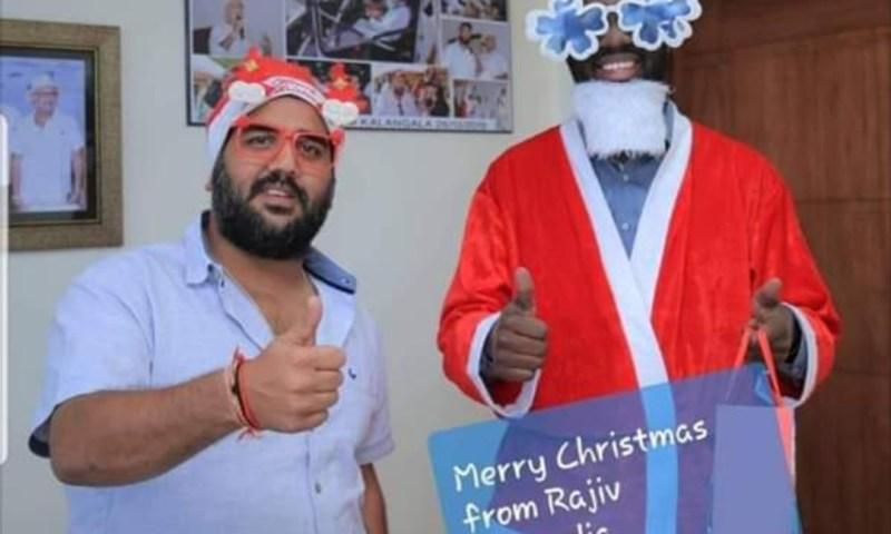 Ruparelia Group Santa Claus Treats Staff To X-mas Freebies