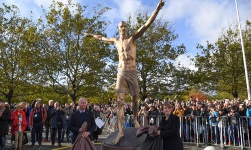 Zlatan Ibrahimovic Statue Vandals Try To Saw Through Feet