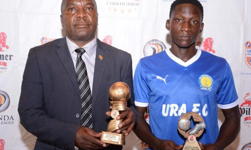 URA Striker Rwothomio, Coach Simbwa Crowned  Best In UPL