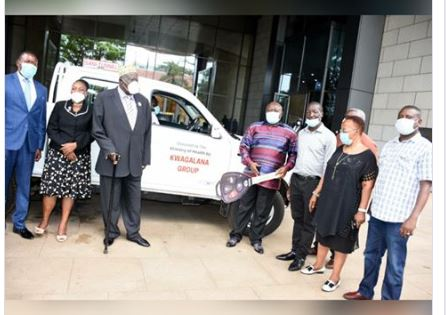 Kwagalana Group Donates Brand New 4×4 Truck To COVID-19 Task Force