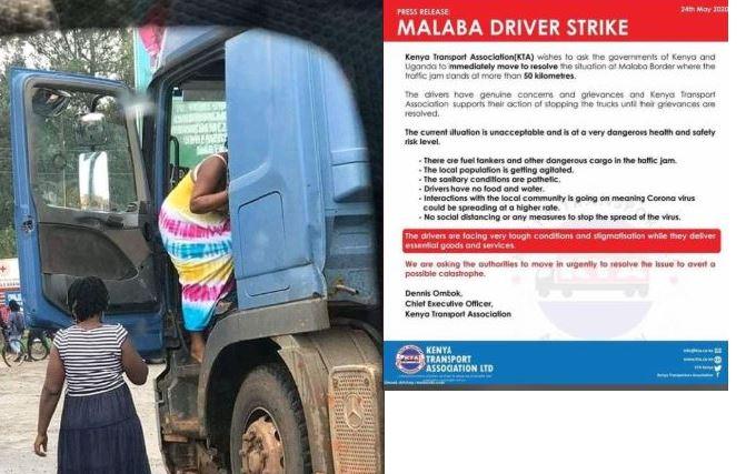 Crisis Looms As Truck Drivers'  Strike At Malaba Border Over COVID-19 Quarantine Starts To Bite