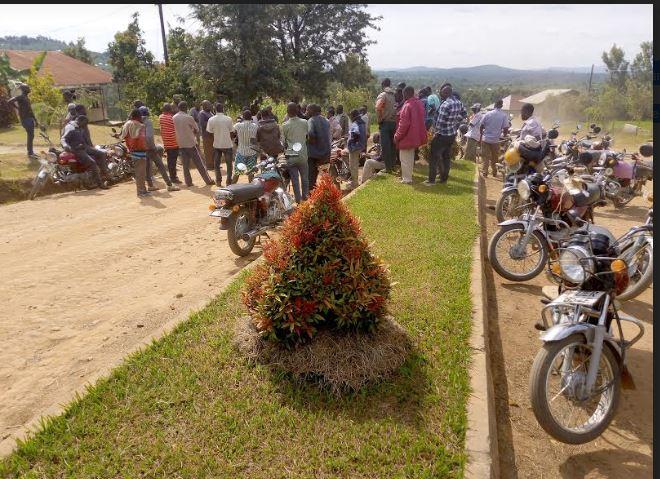 Boda-boda Riders Storm RDC Kyerere's Office To Demand For COVID-19 Posho