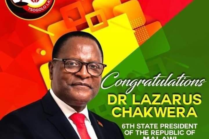 Preacher Chakwera Sworn In As Malawi President