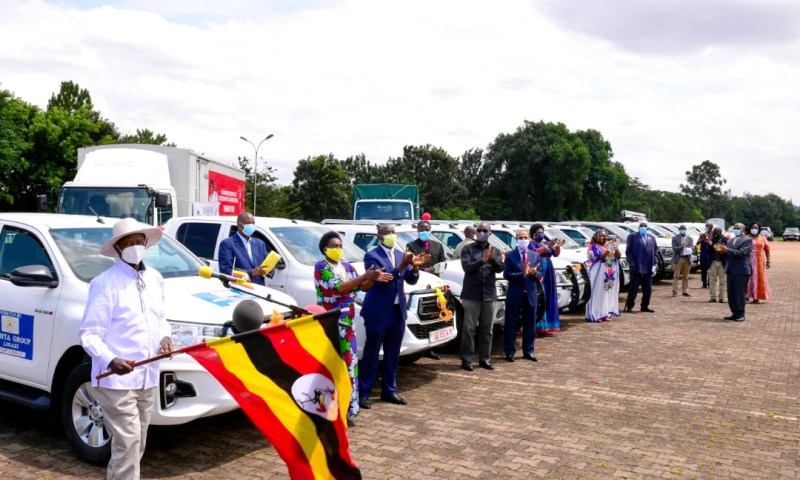 President Museveni Flags Off More Cars Donated In Fight Against COVID-19