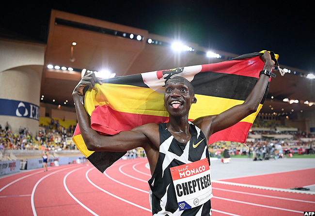 Breaking:Cheptegei Crowned World Champion Athlete After Breaking 5000M Record