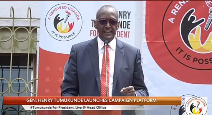 Gen.Tumukunde Unveils Campaign Team To Generate Support In 2021 Elections