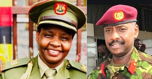 Gen. Muhoozi Sends Lt. Col. Nakalema Warm BD Greetings As She Clarifies On Social Distance Photo