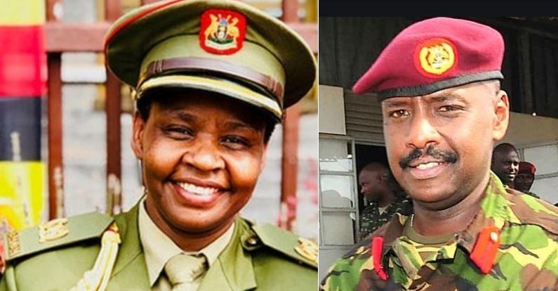 Gen. Muhoozi Sends Lt. Col. Nakalema Warm BD Greetings As She Clarifies On Social Distance Photo