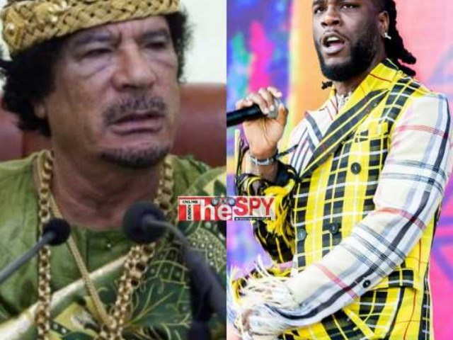 I Was Inspired By Col.Muammar Gaddafi Into Pan-Africanism, Nigeria's Singer Burna Boy