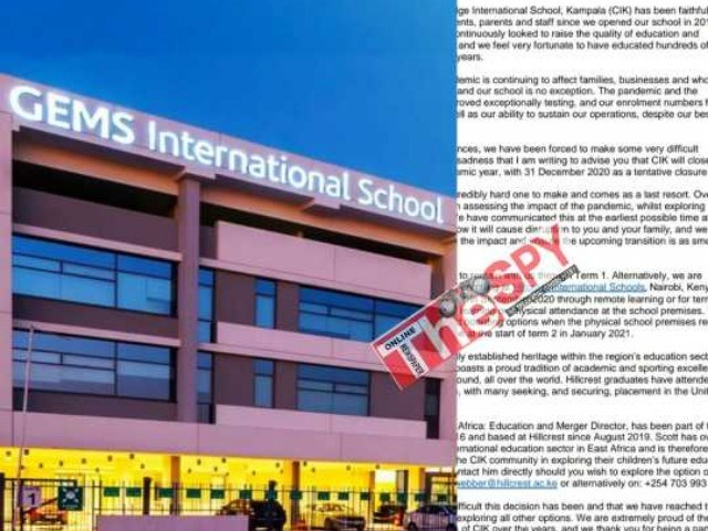 Gems Cambridge International School Closes Operations In Uganda Over COVID-19