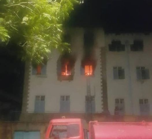 Just In: 2nd Fire Breaks Out At Makerere University After President Museveni's Address