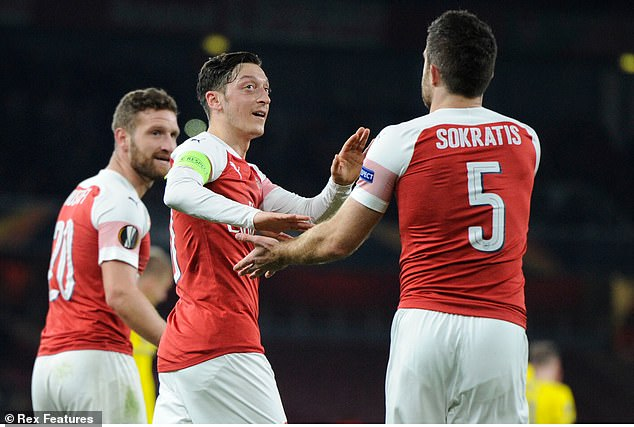 Full Squad Unveiled: Mesut Ozil, Sokratis Left Out Of Arsenal's Europa League Squad