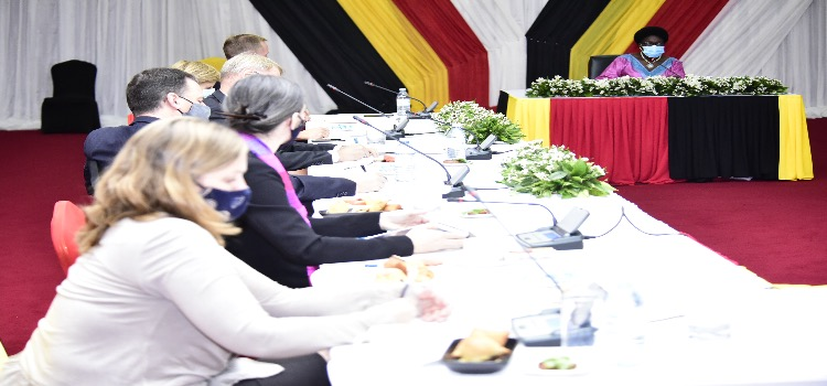 European Union Envoys Grill Speaker Kadaga Over Politicians' Rights Abuse Under The Guise Of COVID-19 SOPs