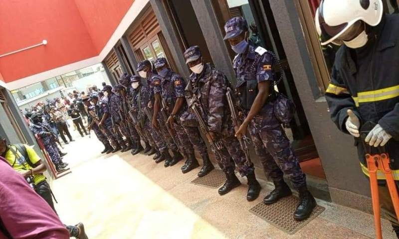 Police Raid NUP Offices In Kamwokya, Confiscates Red Berets, Security Cameras
