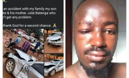 Just In: Singer Ykee Benda & Family Survive Nasty Accident