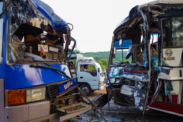 Horrific Accident Leaves 39 Dead, Hundreds Injured As Two Buses Crash
