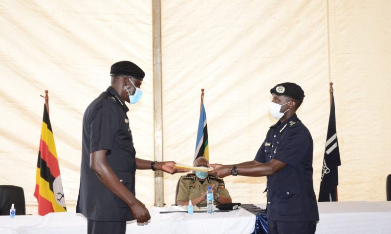 Maj.Gen. Paul Lokech Officially Kicks Off Uganda Police Duties As Muzeyi Hands Over