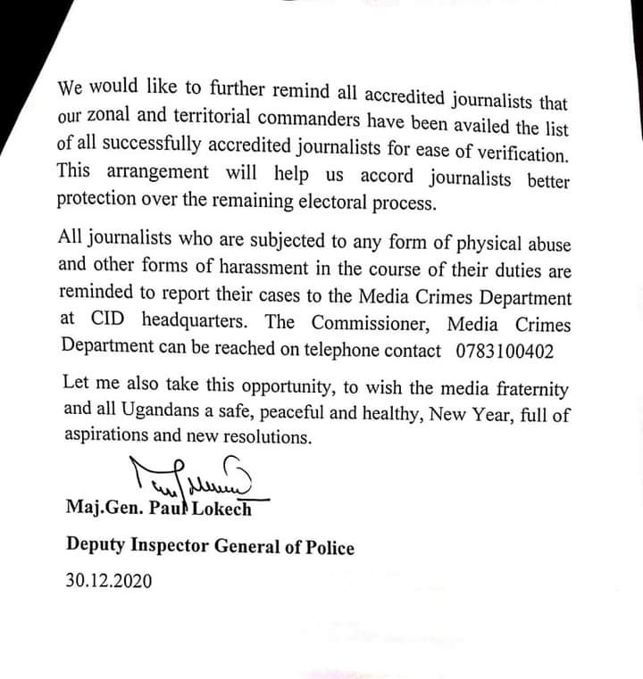 We Won't Spare Any One! Dep. IGP Lokech Vows To Hunt Down Non Accredited Journalists Ahead Of 2021 General Elections
