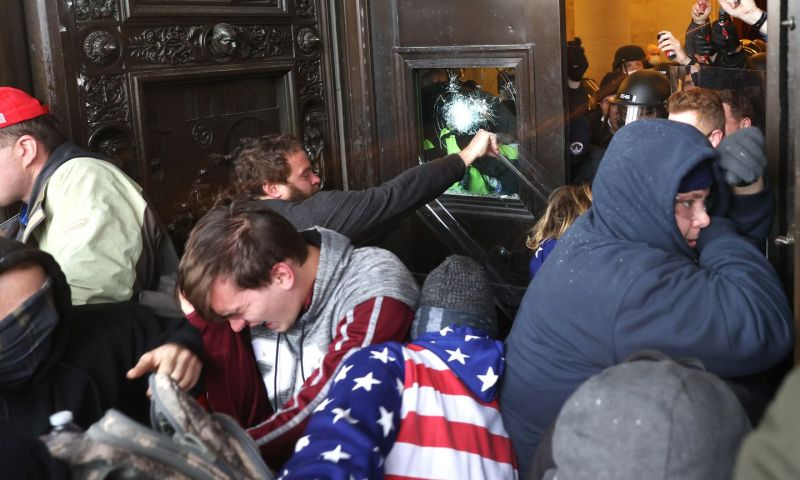 Tension! Trump Supporters Attack US Capitol,Put Congress Members On Gunpoint To Declare Biden Loser