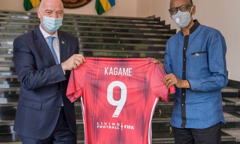 President Kagame's Dream For Sports In East Africa Fulfilled As He Meets FIFA President Infantino