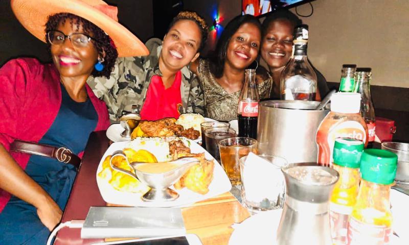 Spy Uganda Admin 'Reopens' Nexas Lounge As She Drowns In Birthday Cake,Booze