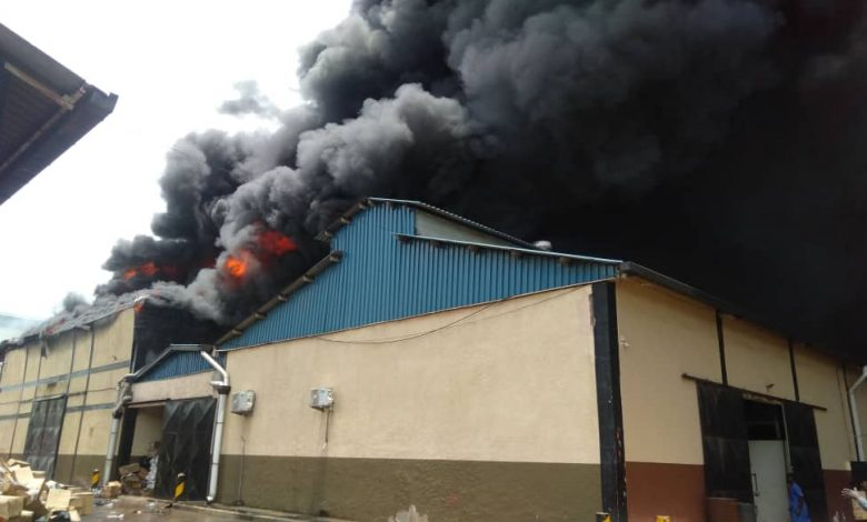 Property Worth Millions Destroyed As Fire Guts Joint Medical Stores Warehouse In Kampala