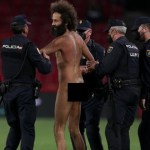 Drama! Man U, Granada Game Halt As Naked Man Invades Pitch, Runs Behind Players (VIDEO)